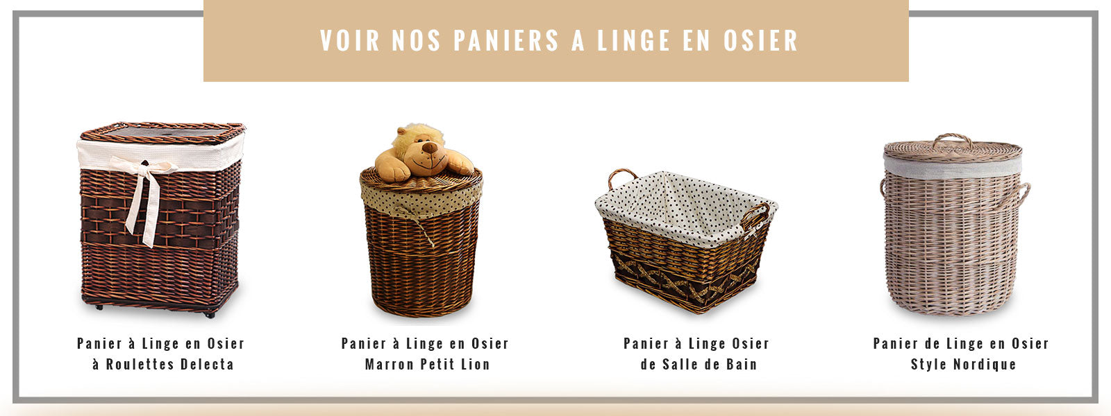 collection panier à linge en osier