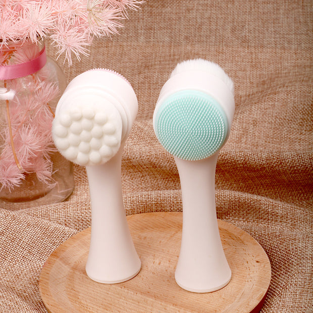 Portable Double Side Silicone Facial Wash Brush