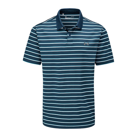 Performance Polo 2.0 Divot Stripe-Tandem Teal // Pitch Gray