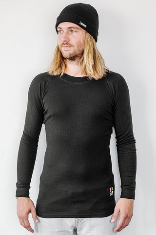Pro Thermo Baselayer Shirt Men Black - long sleeves