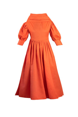 Orange Flair Dress