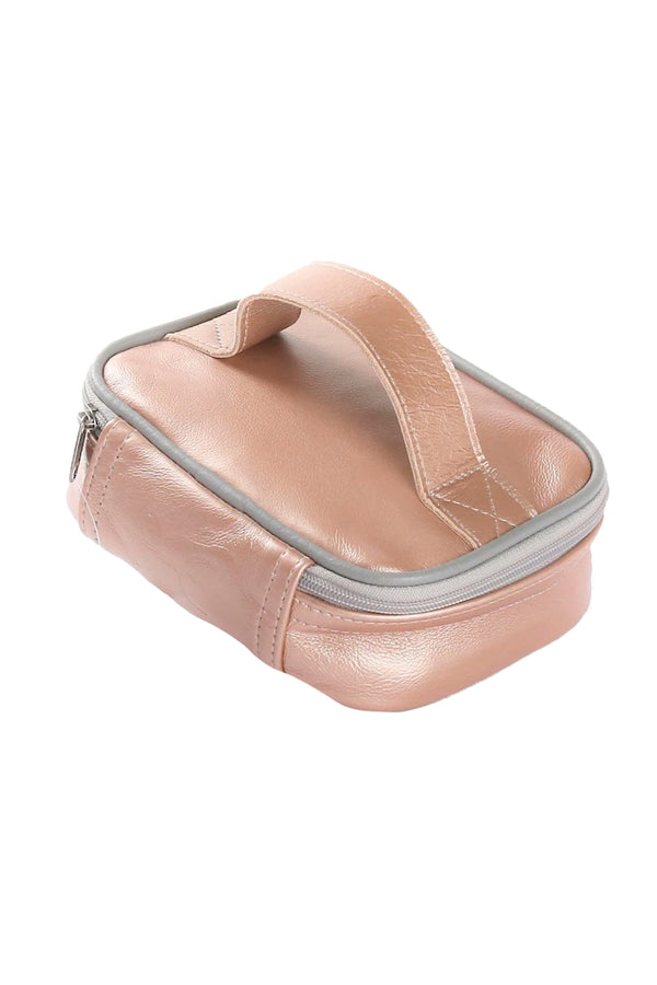 Single Toiletry Metallic Leather