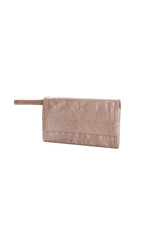 Travel Wallet Metallic Leather
