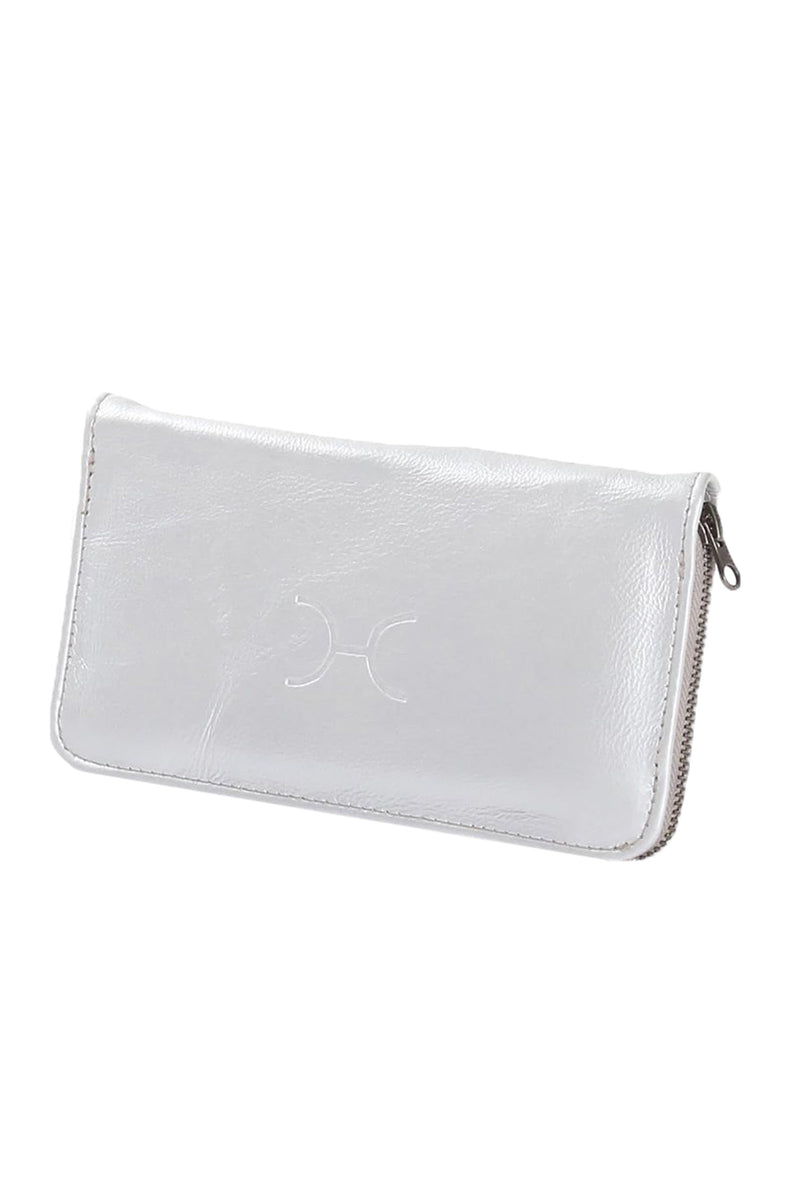 Ladies Large Wallet Metallic Leather