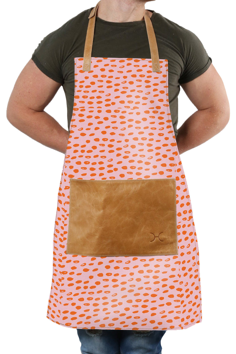 Apron Laminated Fabric with Leather Pouch