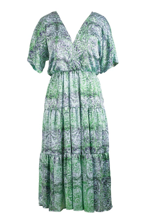 Full Cream - Green Silk Dress