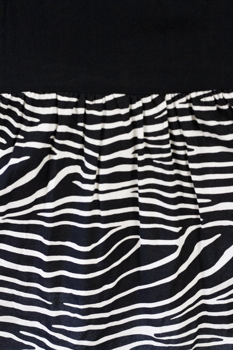 Zebra Single Strap Dress
