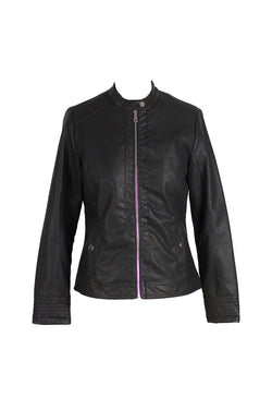 Downtown - Black Leather Fitted Jacket