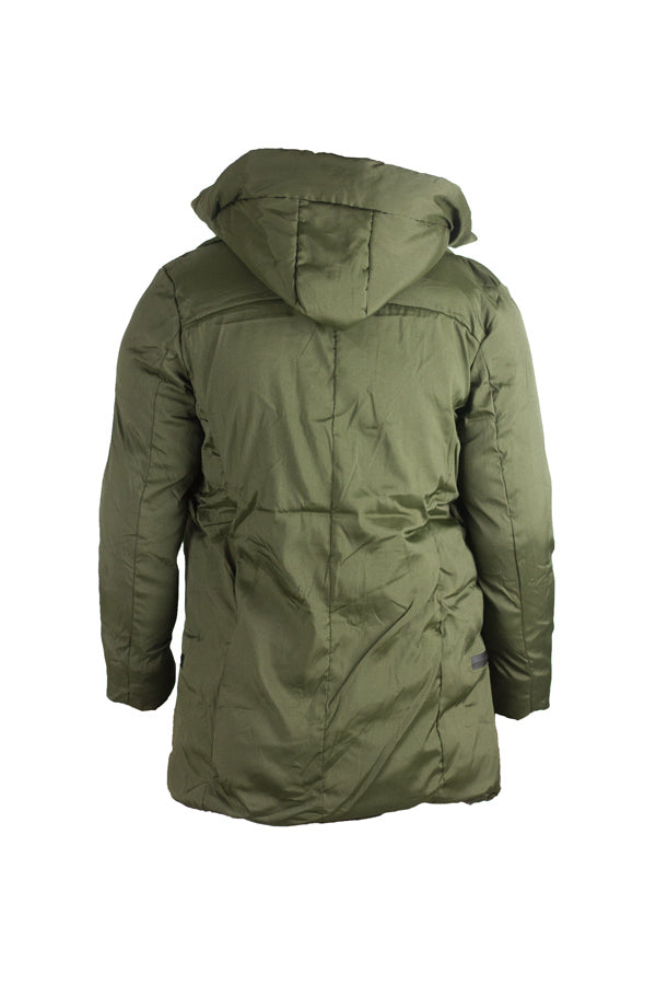 Downtown -  Olive Quilted Coat