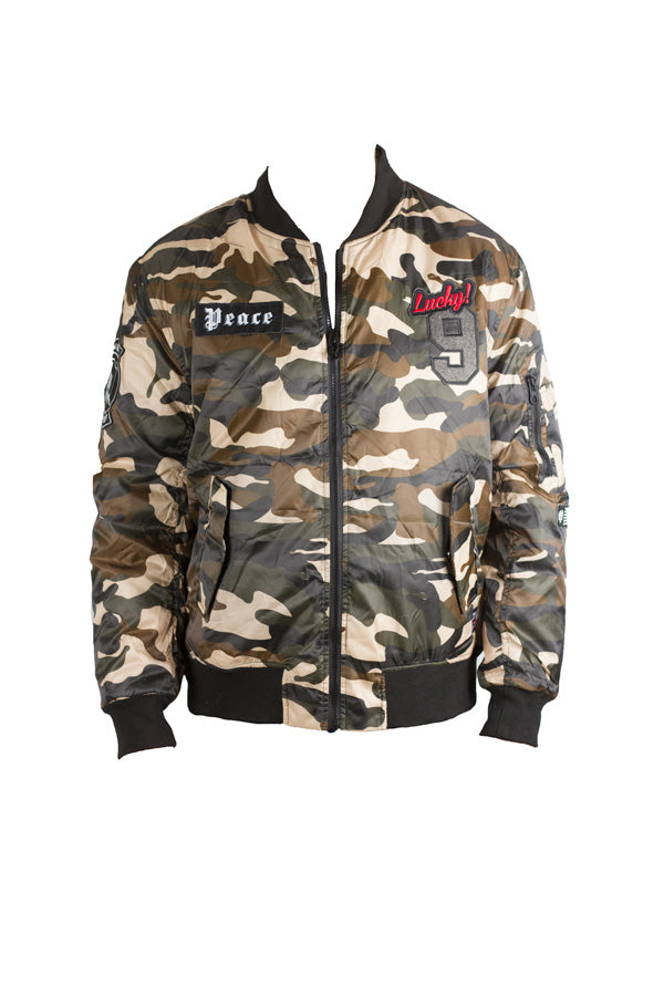 Downtown - Camo Bomber Jacket