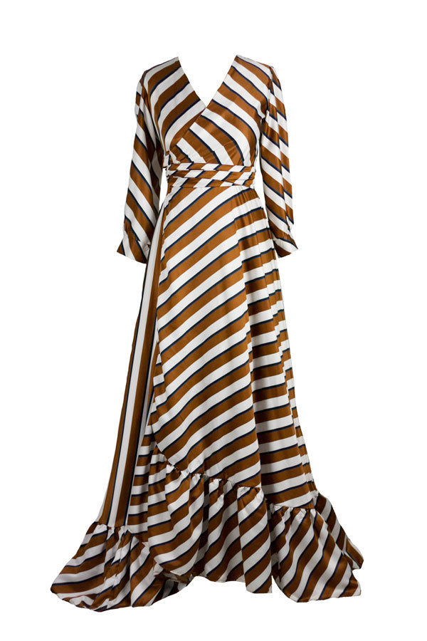 The Fifth - Stripe Wrap Dress