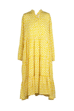 Miss Moneypenny - Mustard Khani Dress
