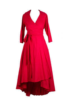 Miss Moneypenny - Burnt Red Betty Dress