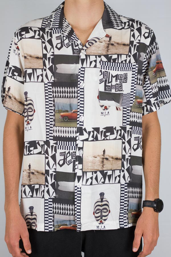 Afro Surf Button Up