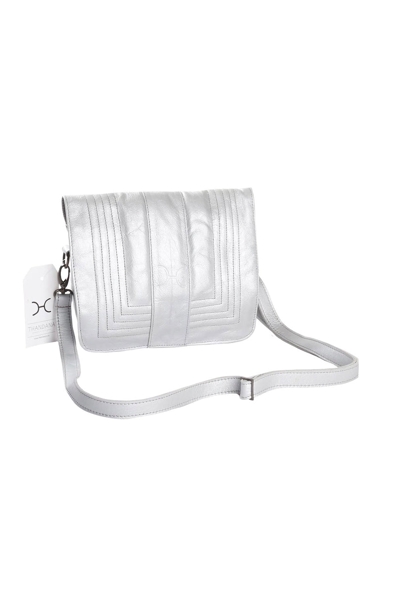 Katie Sling Clutch Metallic Leather