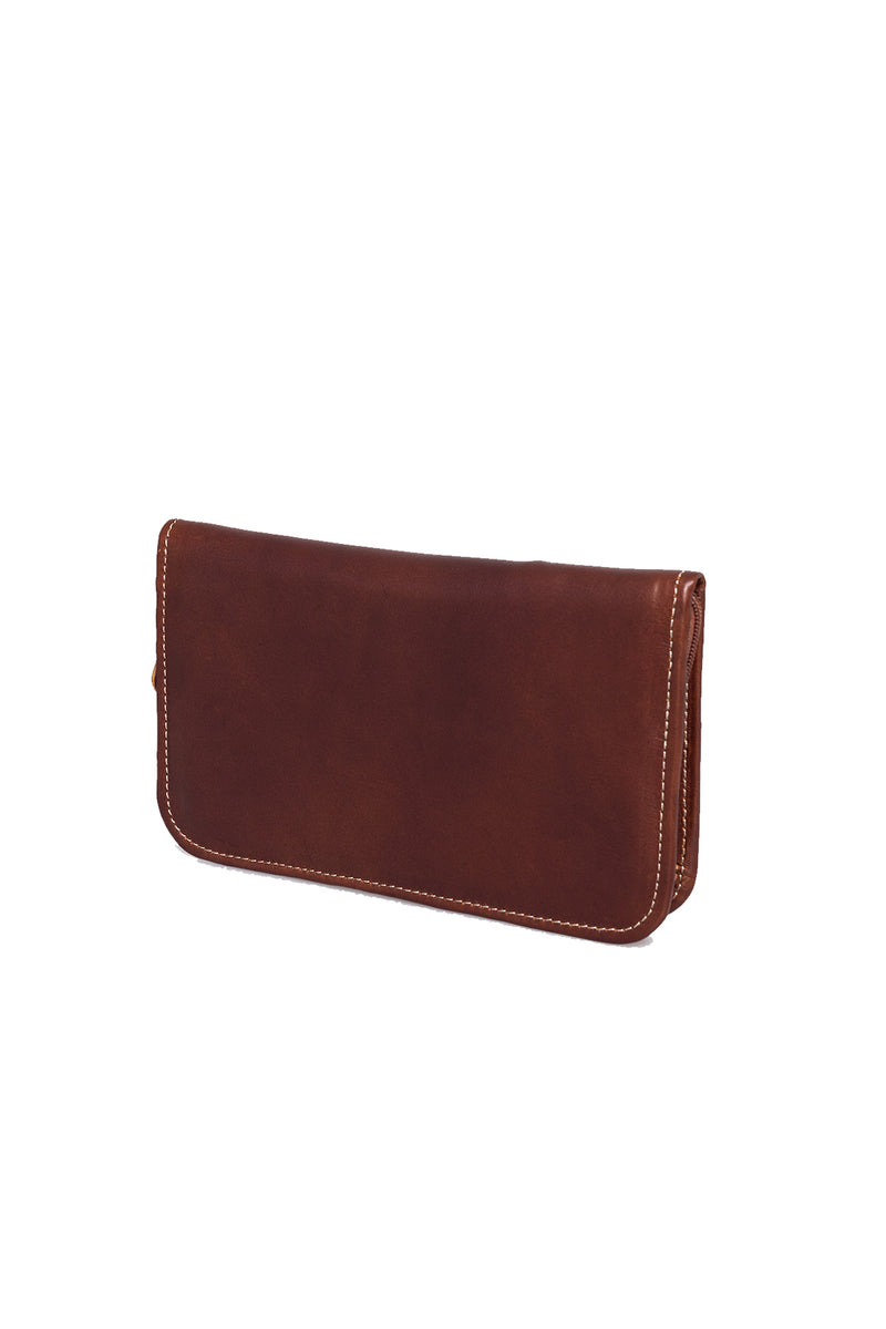 Large Travel Wallet Leather