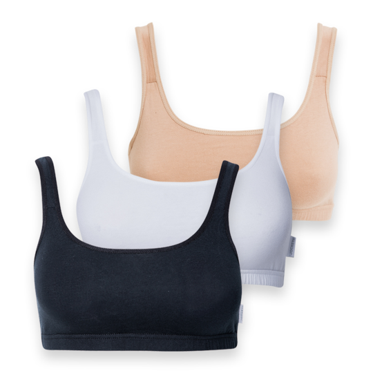 Jockey - 3 Pack Cotton Stretch Crop Top
