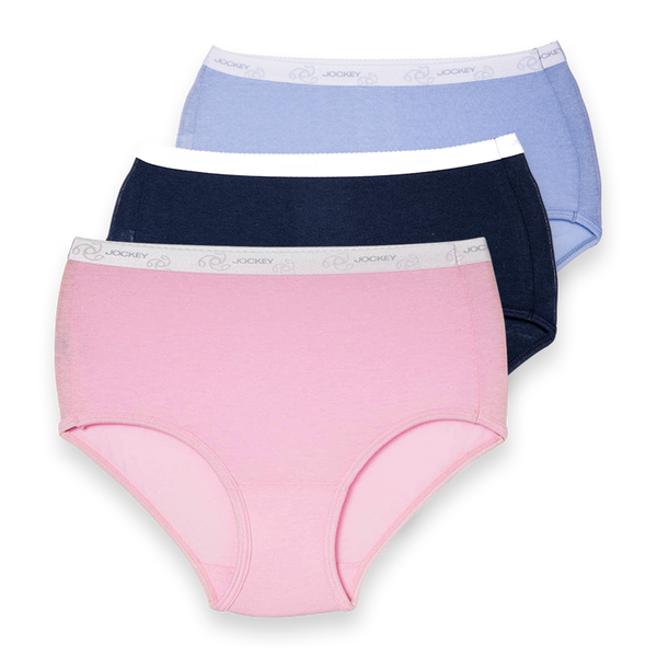Jockey - 3 Pack Cotton Full Brief Plain