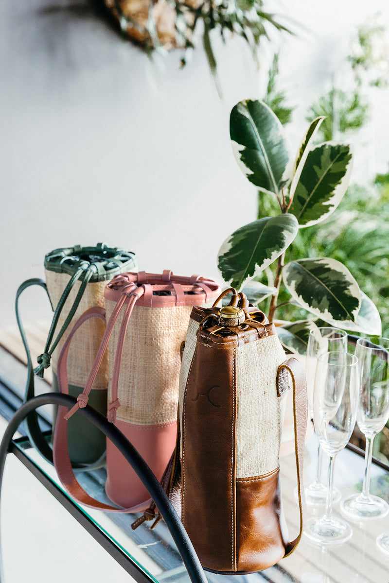 Banana Leaf Wine Cooler Leather