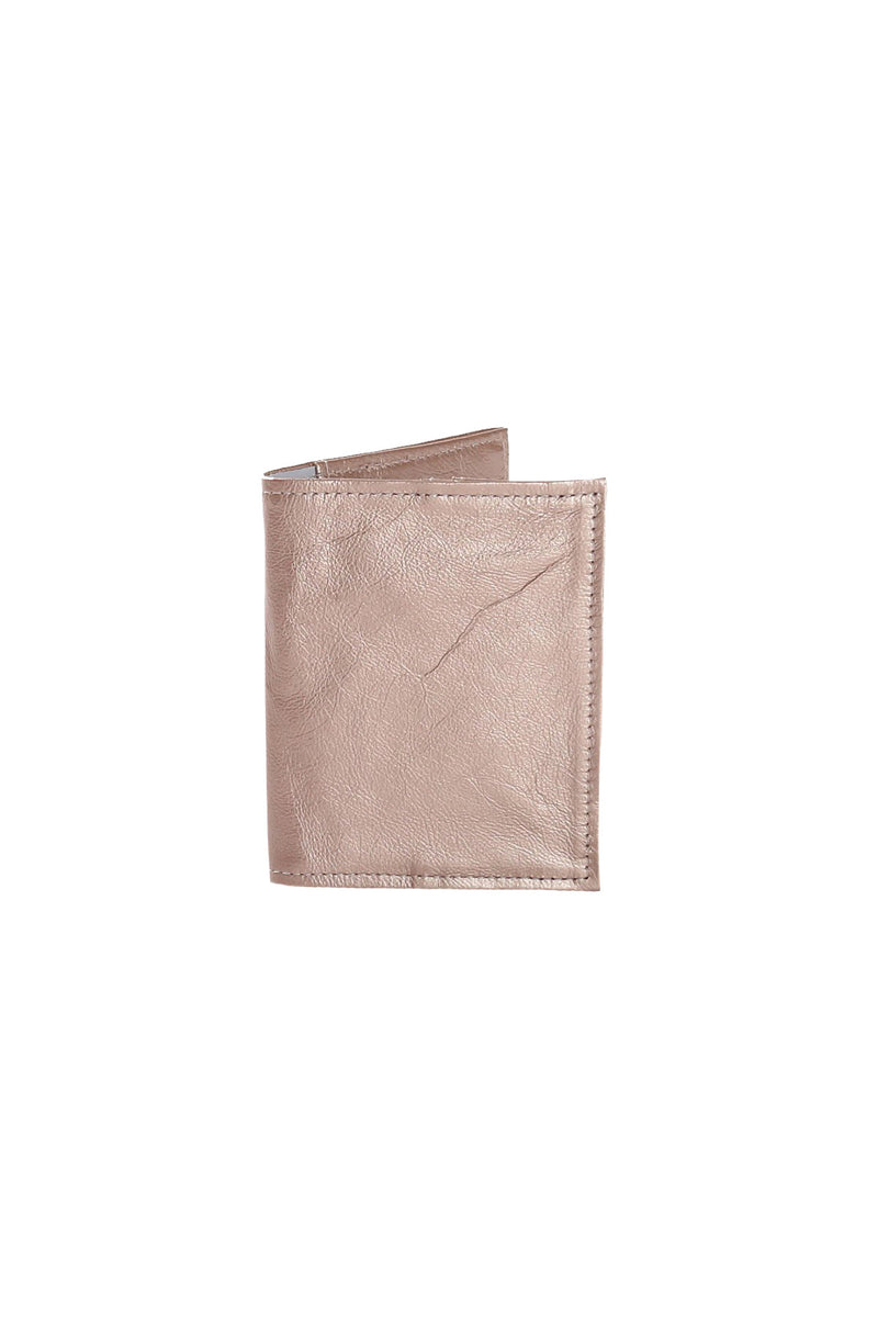 Passport Holder Metallic Leather