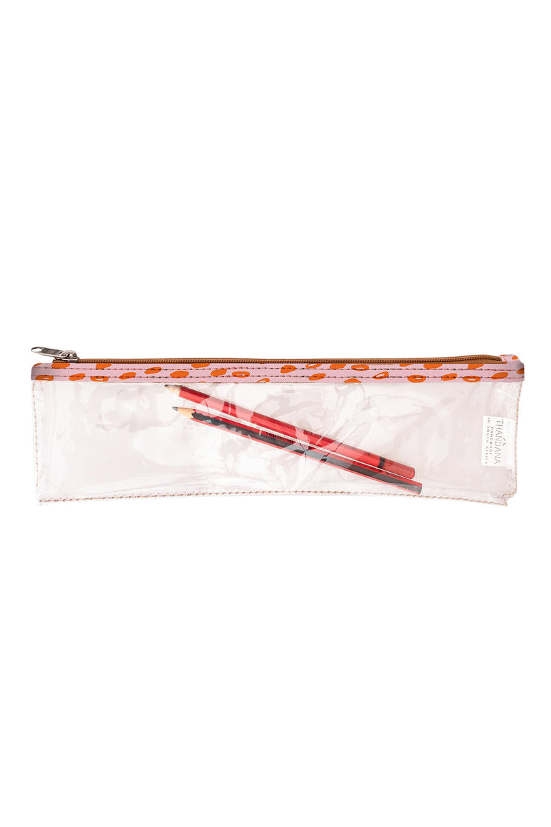 Clear Pencil Case Laminated Fabric