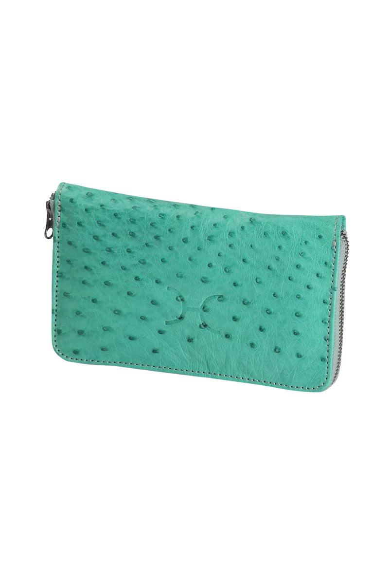 Ladies Large Wallet with Ostrich