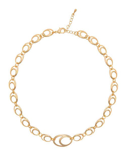 Choker Double Oval Gold