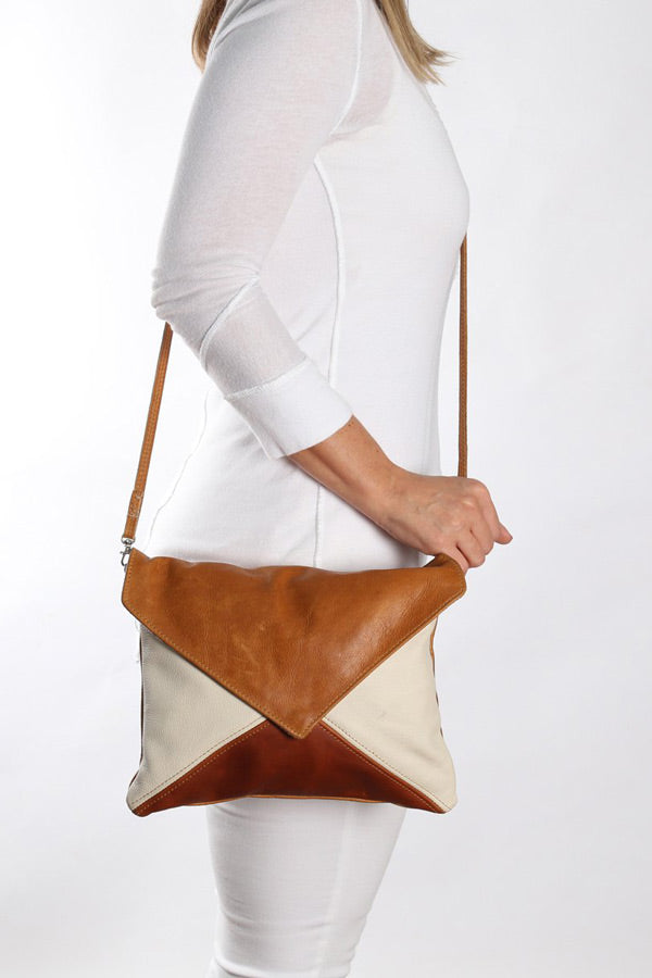 Thandana - Envelope handbag leather