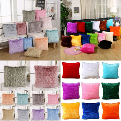 FLUFFY PLUSH CUSHION COVERS