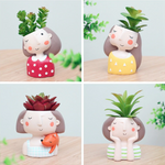 Era Cute Succulent Girl Face Pots (Plants Excluded)