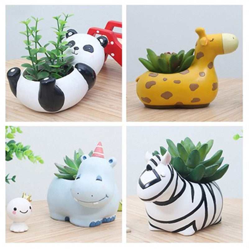 Era Cute Succulent Animal Pots ( Exclude plants )