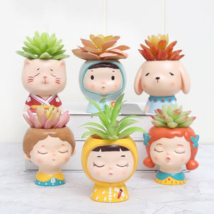 Era Mini Doll Succulent Pots
