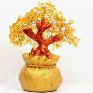 Citrine Money Tree Gemstone Ornament (16-25cm)