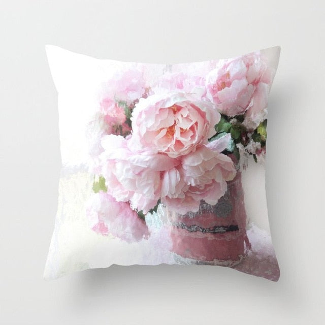 FLORAL ROSE FLOWER CUSHION COVERS
