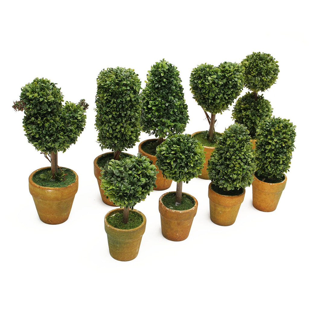 Artificial Garden Grass Topiary Trees Pots Plants