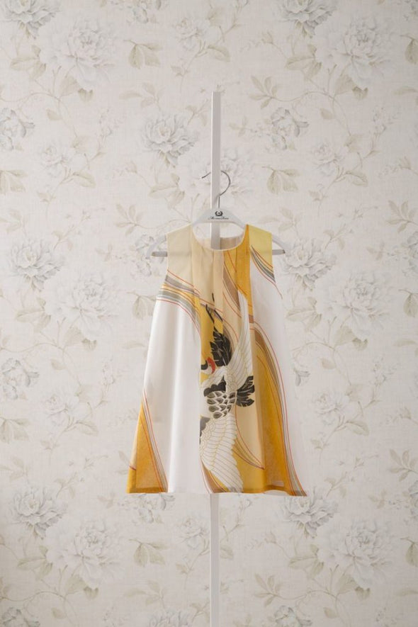 SLEEVELESS DRESS_YELLOW PRINT