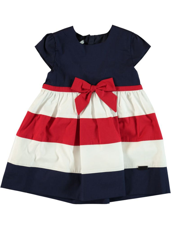 STRIPE RED BOW DRESS
