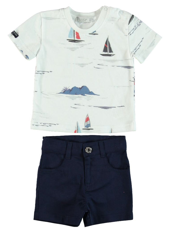 SAILOR T-SHIRT AND SHORTS SET