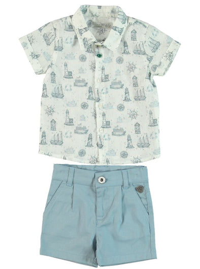 HARBOR SHIRT AND SHORTS SET