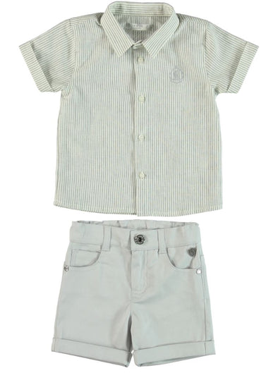 GREY SHIRT & SHORTS SET