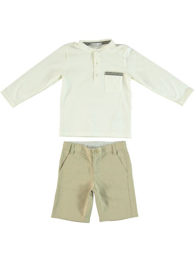 CASABLANCA LONG SLEEVE SHIRT + SHORTS SET