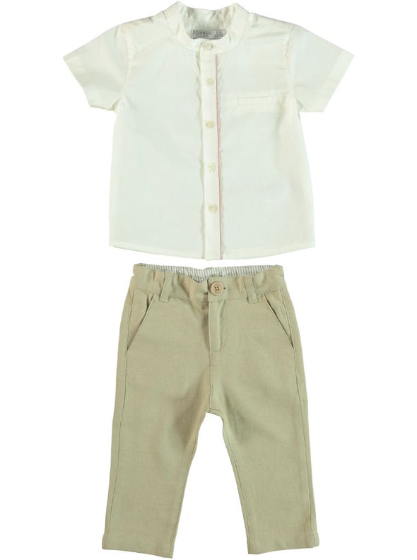 CASABLANCA SHORT SLEEVE SHIRT +PANTS SET