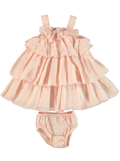 PINK FRILL DRESS WITH BLOOMER