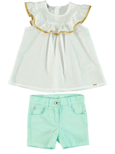GRECIAN TOP AND SHORTS SET