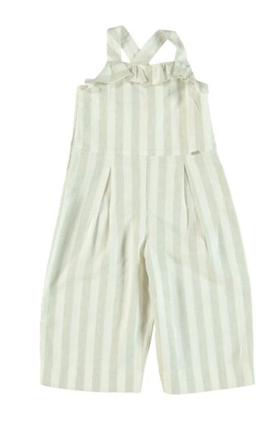 GREY STRIPE CULOTTES JUMPSUIT