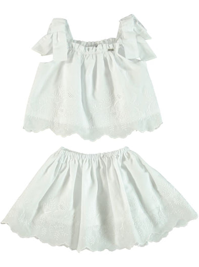 DITSY LACY BLOUSE & SKIRT SET