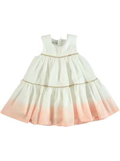 WHITE & PEACH GRADIENT DRESS