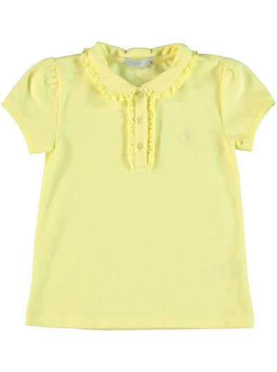 FRILL COLLAR SHIRT_YELLOW
