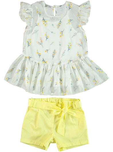 GERBERA DAISY BLOUSE & SHORTS SET
