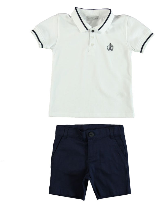 SAILOR POLO SHIRT AND SHORTS SET